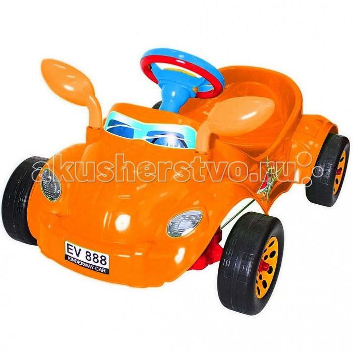 R-Toys Машина педальная Молния с музыкальным рулемМашина педальная Молния с музыкальным рулемУникальные машинки на педалях из нашего детства. Механизм педалей такой, как в детстве был у советских машинок. Получается этот автомобиль – раритет, который может себе позволить только Ваш малыш.   Автомобиль не имеет дна, но оснащен удобным сиденьем и двумя надежными педалями, которые запускают в движение колеса. Достаточно по очереди нажимать на педали и машина будет ехать вперед.   Поворачивая руль, автомобиль можно направлять направо или налево. Ребенок оценит этот простой, но очень необычный и надежный механизм управления. В отличии от аккумуляторных машин на пульте управления Ваш ребенок будет успешно развиваться физически, укреплять мышцы ног, спины, живота. Такой способ управления автомобилем не просто заинтересует Вашего малыша, но и приведет его в полнейший восторг.   Это первый автомобиль так похожий на реальный, потому что малыш сидит внутри и управляет им как водитель. Он может даже сигналить и слушать музыку, потому что руль - музыкальный. Красивые мелодии, красивые звуки. Эта необычная альтернатива детскому велосипеду.   Многие дети оценят новую систему управления, после которой им легко будет научиться кататься на велосипеде или на другом виде транспорта.   Корпус - упрочненный высококачественный пластик, не подвержен деформации и перепаду температур.  Дизайн и аэродинамические формы спортивного автомобиля как Formula 1 покорят Вашего малыша с первого взгляда. Выполнена по самым современным технологиям и соответствует всем высочайшим стандартам качества и безопасности.  Уникальность этой машины - очень легкий вес для своих размеров - всего 3 кг.  Автомобиль очень устойчивый – никогда не перевернется. Идеально подойдет для малышей от 3 лет.  Эргономичное сиденье с высокой спинкой.  Очень устойчивые, широкие и проходимые колеса легко справятся с любым покрытием дорог.  У автомобиля имеются боковые зеркала заднего вида.  Эту педальную машину можно использовать 