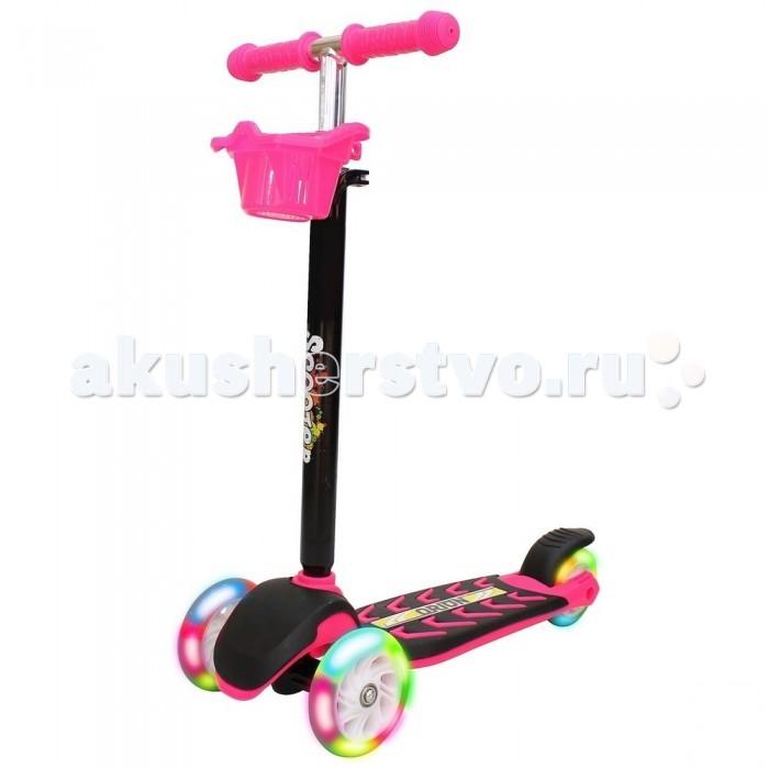 Детский транспорт , Трехколесные самокаты R-Toys Midi Orion со светящимися колесами 164в6 арт: 326164 -  Трехколесные самокаты