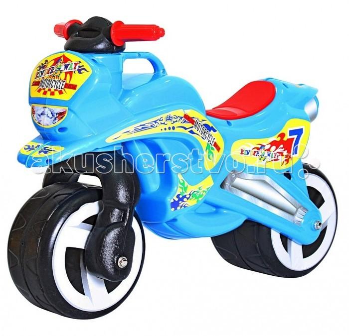 Каталка R-Toys Motorcycle 7Motorcycle 7Первый беговел для малышей. Яркий дизайн и аэродинамические формы этого беговела оценят стильные родителям и их дети.   Благодаря своей удобной конструкции кататься на этой каталке смогут даже самые маленькие дети от 18 месяцев. Польза беговелов для детей давно доказана. Каждый малыш от 18 месяцев должен начинать знакомиться с транспортом со своего первого беговела.   Езда на беговеле позволит малышам получить первые навыки управления транспортом. Широкие колеса обеспечивают устойчивость беговела.   Безопасность - 10 баллов. Руль имеет эргономичную форму и позволяет безопасно управлять каталкой.  Уникальность беговела в том, что угол поворота руля сделан таким образом, чтобы быть безопасным в использовании. Грамотно продуманный угол поворота (неполный), что дает малышу безопасное маневрирование и безопасно поворачивать, не позволяя беговелу перевернуться.  Проходимые колеса предназначены для любых дорог.  Эргономичное сиденье шириной 12 см - малышу будет очень удобно.  Уникальная разработка инженеров - ручка для переноски. Это очень удобно.  Изготовлено из высококачественного и экологического пластика по самым современным европейским технологиям.  Максимальная нагрузка - 30 кг.  Размер беговела 67х52х32, высота сиденья 31 см<br>