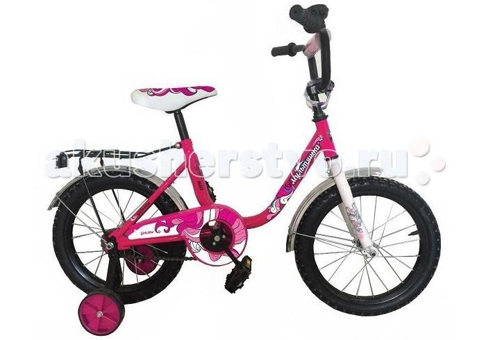 Велосипед двухколесный R-Toys Мультяшка 1403 14Мультяшка 1403 14Двухколесный велосипед Мультяшка 1403 14 с боковыми колесами на усиленных кронштейнах. Ребенку проще привыкнуть к габаритам двухколесной модели, если она имеет дополнительные колесики для устойчивости. Когда рулевое управление будет доведено до совершенства, можно переходить к тренировкам поддержания равновесия на велосипеде без боковых колес.  Особенности велосипеда: прочная стальная рама стойкое антикоррозийное покрытие рамы удлиненные стальные крылья обод стальной руль ВМХ, по центру - мягкая накладка съемные боковые колеса с жесткой прорезиненной поверхностью усиленный кронштейн боковых колес надувные 14-дюймовые колеса на подшипниках количество скоростей - 1 защитный кожух на велоцепи тормоз задний ножной багажник звонок на руле<br>