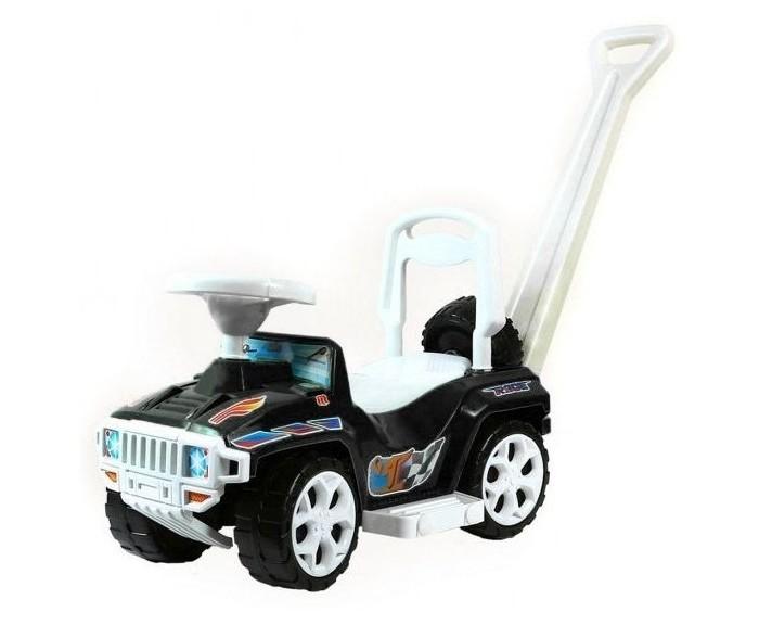 Каталка R-Toys Race Mini Formula 1Race Mini Formula 1Каталка R-Toys Race Mini Formula 1 с родительской ручкой в первую очередь по достоинству оценят родители.  Особенности: Машинка трансформируется в 3 игровые модели, которые можно использовать по мере того, как растет Ваш малыш: ходунки, машинка-каталка с Родительской ручкой-толкателем, машинка-каталка. Ходунки для детей от 10 месяцев. Благодаря специальной ручке за сиденьем каталки, ребенок может опираться на машинку и делать свои первые шаги. Также эту удобную ручку может использовать взрослый для переноса каталки. Машинка-каталка с Родительской ручкой- толкателем для детей от 12 месяцев. Благодаря этой ручке высота которой 87 см, Вы сможете катить малыша, он будет сидеть за рулем машинки, держаться за руль, а ножки сможет поставить на боковые подножки. Если малыши уверенно сидят на машинке, но им еще не хватает сил толкаться ногами и ехать на машинке самостоятельно, Родительская ручка-толкатель и подножки идеально подойдут в этот период. Мама будет катить машинку с ребенком, ножки которого будут безопасно отдыхать на боковых подножках. Ручка даст Вам возможность контролировать движение ребенка на машинке и помогать ему ехать. Машинка-каталка для самостоятельного использования малышами от 12 месяцев. Эта машинка идеально подходит для катания дома, на детских площадках, во дворах и парках. Конструкция каталки-трансформера даёт родителям возможность изменять ее по мере того, как растет Ваш ребенок. Сначала её можно использовать для катания малыша по дому, а когда Ваш малыш подрастет, то можете смело использовать её для прогулок на улице.  Для комфортной прогулки предусмотрены съёмные подножки и удобная спинка сидения.  Для удобства родителей предусмотрена родительская ручка, предназначенная для управления каталкой.  Если Вашему малышу всего полгода, то каталку можно быстро и легко трансформировать в ходунки, которая хорошо подойдёт для обучения первым шагам. А немного повзрослев ребёнок сможет ездить в машине-катал