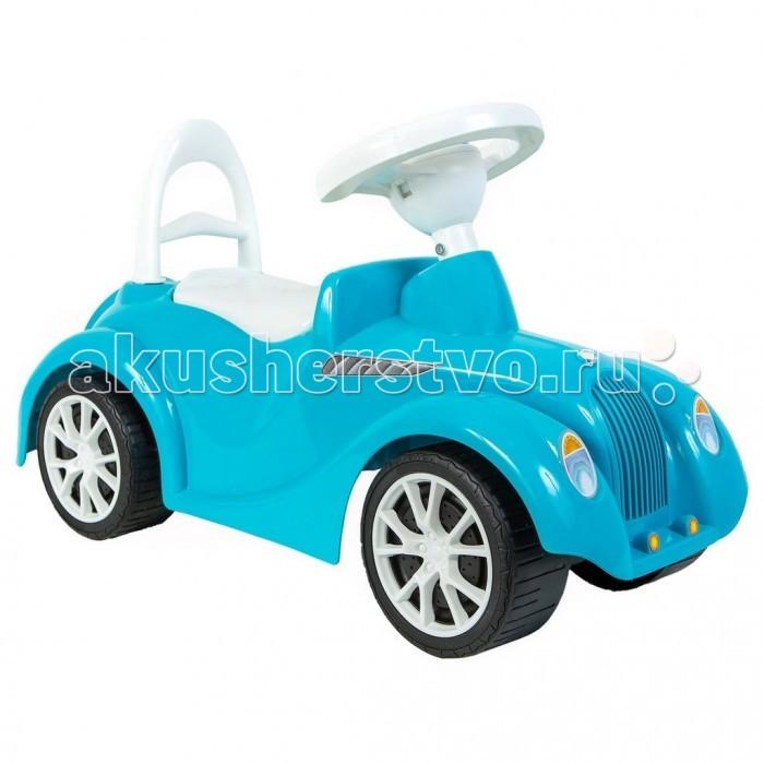 Каталка R-Toys РетроРетроКаталка R-Toys Ретро с клаксоном.  Особенности: Изящные, утонченные формы каталки, лаконичное сочетание цветов понравятся любителям классики.  Эргономика сиденья-10 баллов.  Конструкция каталки сделана таким образом, что детская машинка полностью защищена от переворачивания или других происшествий на дороге.  Каталкой управлять предельно просто, это поймет даже самый маленький ребенок.  Ребенок может садиться на удобное сиденье, отталкиваться ножками и ехать, держась за руль каталки и поворачивая передними колесами.  Каталка сделана из высококачественного пластика , который не подвержен перепаду температур, не деформируется и не выгорает под солнцем.  Езда на каталке стимулирует ребенка к активным движениям и развитию.  В процессе игры развивается общая моторика, умение управлять своим телом.  В процессе езды ребенок познает окружающий мир, фантазирует и развивает воображение.  Очень устойчивые, широкие и проходимые колеса легко справятся с любым покрытием дорог.  Крутящиеся большие колеса позволяют ездить самому, катать машину руками или возить за веревочку.  Эту каталку можно использовать и дома, и на улице.  Стильный дизайн покорит с первого взгляда и Ваш малыш не захочет расставаться с каталкой.  Под сиденьем каталки имеется багажное отделение, в которое Ваш ребёнок может сложить свои любимые игрушки.  На руле- клаксон.  Максимальная нагрузка 25 кг.  Рекомендуется для детей от 10 месяцев.  Размеры каталки: 62х37х27 см.<br>