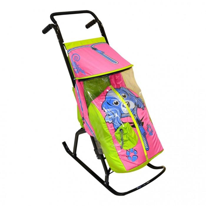 Зимние товары , Санки-коляски R-Toys Снегурочка 2-Р Собачка арт: 42725 -  Санки-коляски
