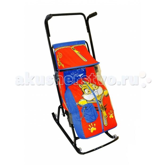 Зимние товары , Санки-коляски R-Toys Снегурочка 4-Р Бельчонок арт: 42719 -  Санки-коляски