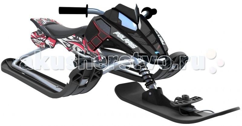 Снегокат R-Toys Snow Moto Polaris RushSnow Moto Polaris RushСнегокат R-Toys Snow Moto Polaris Rush У этой модели очень красивое матовое черное покрытие рамы. Лидеры продаж 3 сезонов — лучшие среди снегокатов!  Юный гонщик на таком снегокате будет примером для любой леди, которая тоже захочет такой модный транспорт. А технические характеристики смогут успокоить родителей в безопасности этого дизайнерского чуда!   Снегокат R-Toys Snow Moto Polaris Rush поможет быстрому развитию общей моторики, приобретению навыков координации и равновесия ребенка. Ваш малыш научится контролировать ситуацию, развивать скорость, быстро тормозить и совершенствовать умение управлять этим видом транспорта. Это бесценный опыт.   Особенности: С помощью новейших технологий производства ударопрочный пластик не подвержен деформации Выдерживает нагрузку до 70 кг  Ее треснет на морозе Поворотный руль Управлять им очень легко Маневренность - 10 баллов  МАмортизатор на передней лыже помогает на холмистых горках. Благодаря ему ребенок не ощутит неровности дороги Безопасная и современная тормозная система Регулируемое сиденье под любой рост малыша Улучшенная система рулевого управления за счет новой формы боковых лыж «Twin Tip». При повороте изогнутый край лыжи скользит быстрее по сравнению с обычной прямой лыжей, тем самым улучшается маневренность Буксировочный трос - веревка очень удобно с помощью защелки фиксируется на передней лыже.   Размеры: 51 x 121 x 47 см<br>