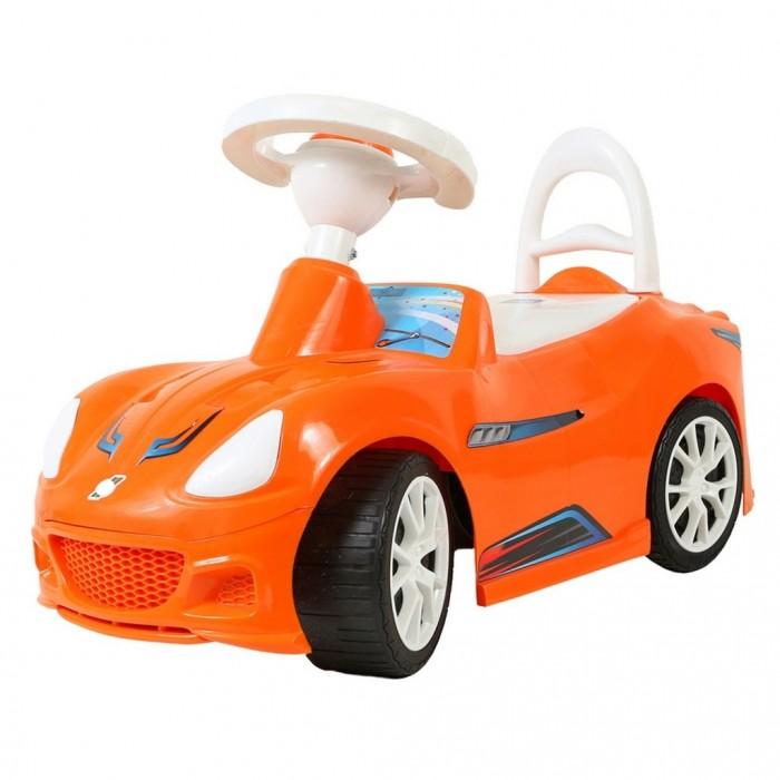Каталка R-Toys СпорткарСпорткарКаталка R-Toys Спорткар с клаксоном.  Особенности: Спорткар может быть ходунками для детей от 10 месяцев и каталкой для самостоятельного катания малышей. Ходунки для детей от 10 месяцев. Благодаря специальной ручке за сиденьем каталки, ребенок может опираться на машинку и делать свои первые шаги. Также эту удобную ручку может использовать взрослый для переноса каталки. Машинка-каталка для самостоятельного использования малышами от 12 месяцев. Эта машинка идеально подходит для катания дома, на детских площадках, во дворах и парках.  Сначала её можно использовать для катания малыша по дому, а когда Ваш малыш подрастет, то можете смело использовать её для прогулок на улице. Для комфортной прогулки предусмотрена удобная спинка сиденья. Под сиденьем каталки имеется багажное отделение, в которое Ваш ребёнок может сложить свои любимые игрушки.  Все продумано до мелочей - спереди и сзади есть упор от переворачивания. Каталка Спорткар способна развить у Вашего малыша пространственное и зрительное восприятие окружающего мира, любознательность, внимание и развивать малыша физически.  Машинки-каталки всегда были любимы и детьми, и взрослыми. А такой изящный спортивный дизайн не оставит равнодушным маленького любителя скорости. Эргономика сиденья- 10 баллов.  На руле - клаксон.  Все детали выполнены из качественной пластмассы.  Идеальный упрочненный пластик, не подверженный выгоранию на солнце и деформации от перепада температур.  Выполнен по самым современным технологиям и соответствует всем высочайшим стандартам качества и безопасности.  Размеры каталки: 64х40х27 см.<br>