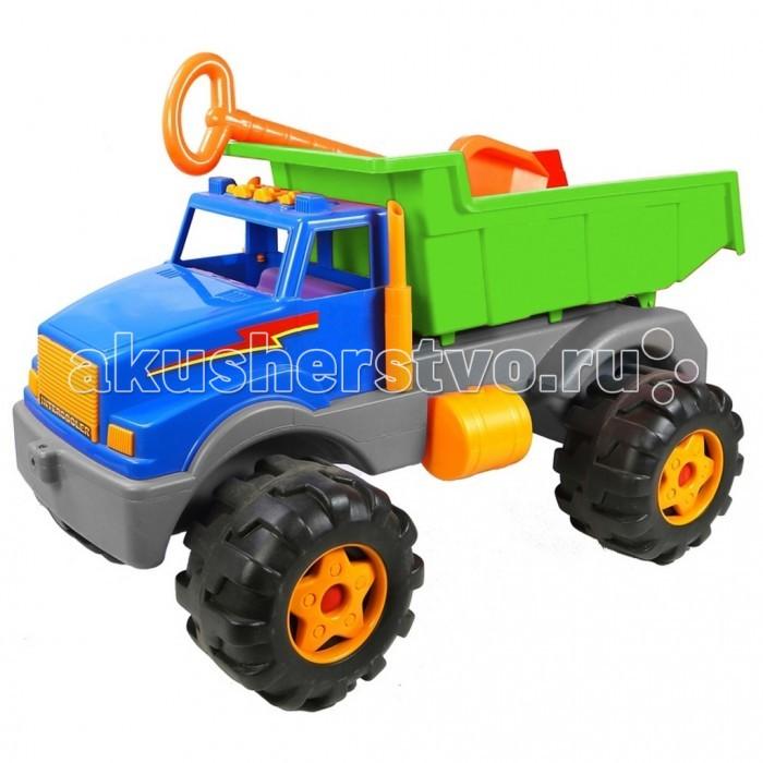 R-Toys Автомобиль Супермаг BIGАвтомобиль Супермаг BIGR-Toys Автомобиль Супермаг BIG  на 6 широких и проходимых колесах понравится юному автомобилисту - любителю больших и прочных машин.   Особенности: Такая игрушка будет незаменима в песочнице, с ней можно играть бесконечно, перевозить песок и многое другое.  Игра с такими большими самосвалами позволяет в полной мере имитировать реальные погрузочно-разгрузочные работы, дает возможность применить ребенку свою фантазию, помогает разыгрывать различные ситуации.  Это идеальная игрушка для игр на открытом воздухе и отлично подойдет для игры на даче, во дворе, на загородных участках, на площадках, в песочницах. Эти самосвалы отличаются высоким качеством, дизайном и функциональностью. Яркий и красивый дизайн понравится Вашему малышу!  Эта машина способна решать большие воспитательные задачи, развивает много хороших качеств: помощь друзьям и взрослым, ответственность, заботу, доброту и внимание.  Детская машина - самосвал Супермаг BIG — это пластмассовая игрушка, изготовленная из высококачественного сырья.  В производстве этих машин используются безопасные материалы.  Пластик не деформируется и не выгорает под солнцем.  Рекомендуется для детей от 2 лет.  В комплекте: большая лопатка для игр в песочнице.<br>
