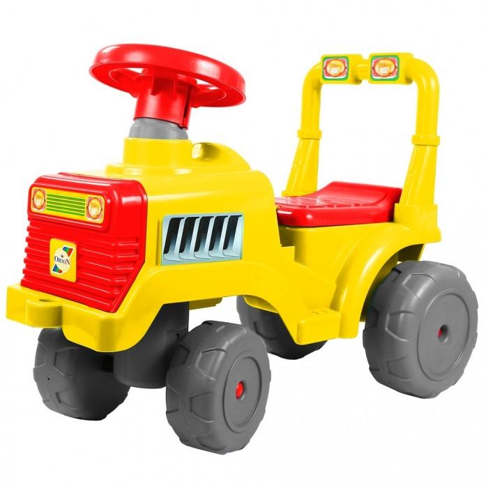 Каталка R-Toys Трактор В ОР931кТрактор В ОР931кКаталка R-Toys Трактор В ОР931к  Это прекрасное транспортное средство очарует Вашего малыша с первого взгляда. А когда он поймет это полезные свойства, он не расстанется с ним до тех пор, пока не вырастет.  Трактор-каталку можно использовать как ходунки и как машинку-каталку. Ходунки для детей от 10 месяцев. Благодаря специальной ручке за сиденьем каталки, ребенок может опираться на машинку и делать свои первые шаги. Также эту удобную ручку может использовать взрослый для переноса каталки. Трактор-каталка для детей от 12 месяцев. Благодаря небольшим выступам-подножкам по бокам трактора , Вы сможете катить малыша. Он будет сидеть за рулем машинки, держаться за руль, а ножки сможет поставить на боковые подножки. Но малышам еще не хватает сил толкаться ногами и ехать, поэтому Вы можете привязать веревку за специальное отверстие впереди трактора и возить малыша за веревку. Вы сможете катить машинку с ребенком, ножки которого будут безопасно отдыхать на боковых подножках. Трактор-каталка для самостоятельного использования малышами от 12 месяцев. Благодаря высокой спинке, ребенку будет очень комфортно на этом тракторе. Эта каталка идеально подходит для катания дома, на детских площадках, во дворах и парках.  Сначала трактор-каталку можно использовать для катания малыша по дому, а когда Ваш малыш подрастет, Вы можете смело использовать её для прогулок на улице. Для комфортной прогулки предусмотрены боковые подножки и удобная спинка сидения. Когда малышу всего полгода, каталка используется как ходунки, которая хорошо подойдёт для обучения первым шагам. А немного повзрослев ребёнок сможет ездить в машине-каталке без родительской помощи.   Но и это ещё не всё. Под сиденьем каталки имеется багажное отделение, в которое Ваш ребёнок может сложить свои любимые игрушки. Они понадобятся ему в путешествии.   Большие широкие колеса c глубоким протектором позволяют трактору передвигаться по любой поверхности дороги – асфальту, лужам, грун