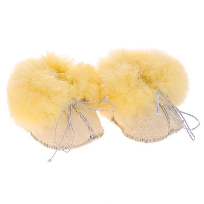 Ramili Носочки-пинетки Baby Basic из медицинской овчинки от Ramili