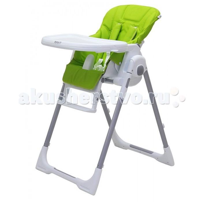 Стульчик для кормления Рант Crystal PrimeCrystal PrimeСтульчик для кормления Рант Crystal Prime — удобный, многофункциональный и практичный стульчик, предназначенный для детей от 0 до 3-х лет.  Он легко трансформируется в шезлонг, поэтому его можно использовать с рождения, а в возрасте 6 месяцев малыш сможет кушать сидя в этом стульчике. Спинка сидения имеет несколько уровней наклона: от положения лежа до положения сидя. Если малыш устал и задремал во время кормления, можно легко, не разбудив его, опустить спинку сидения в положение лежа. Сиденье стульчика регулируется по высоте, обеспечивая быстрорастущему малышу удобство и комфорт. Когда ваш малыш подрастет, он будет счастлив сидеть на этом стульчике за одним столом вместе со взрослыми. Для этого вам всего лишь надо будет снять столешницу.  Стульчик можно использовать как для кормления, так и для веселых игр, если расположить на подносе любимые игрушки ребенка. Съемный чехол сиденья изготовлен из высококачественной ламинированной ткани с водоотталкивающим покрытием. Съемная столешница регулируется в 3-х положениях и имеет съемный поднос.  Надежные ремни безопасности и анатомический разделитель для ножек, предотвратят вероятность выпадения ребенка из стульчика. Для удобства столешницу можно установить на задней опоре стульчика для компактного и удобного хранения. Нажатием кнопки стульчик легко складывается до компактных размеров.  Особенности: угол наклона спинки регулируется в 5-ти положениях (в том числе до горизонтального);  6 уровней сиденья по высоте;  двойная, съемная столешница регулируется в 3-х положениях;  съемный чехол сиденья изготовлен из высококачественной ламинированной ткани с водоотталкивающим покрытием (облегчает уход и чистку);  регулируемая подножка по высоте и наклону;  разделитель для ножек;  5-ти точечные ремни безопасности с плечевыми накладками из ламинированной ткани;  2 скрытых колеса с мягким покрытием (не царапают пол);  для удобства хранения столешницу можно установить на задней опоре 