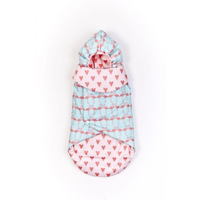 Rant Конверт для новорожденного Обнимашки с капюшоном Фламинго
