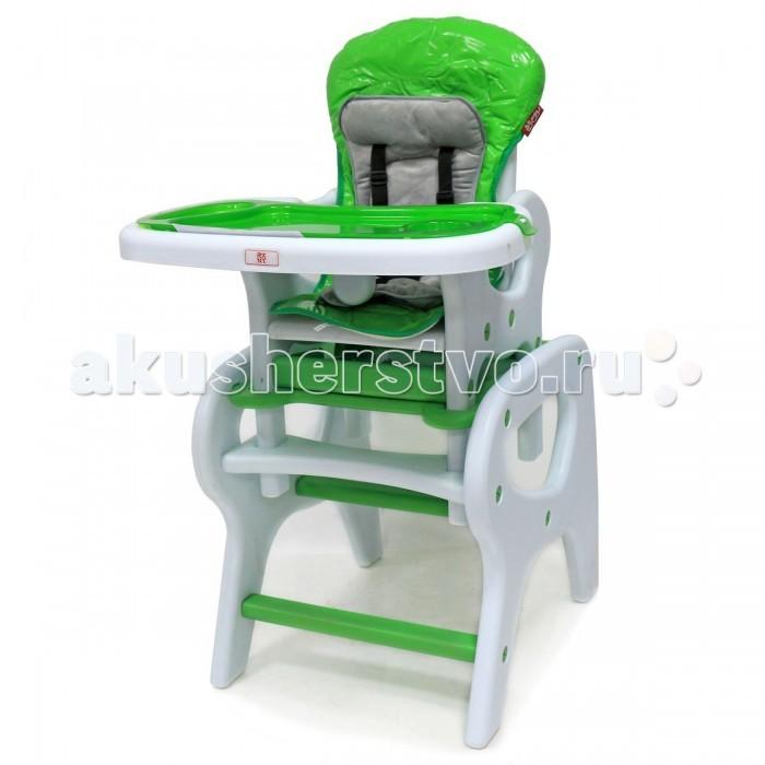 Стульчик для кормления Рант MaximMaximСтульчик для кормления Рант Maxim  Стул-стол для кормления представляет собой необычную конструкцию, которую можно легко превратить в стульчик для кормления или в набор мебели для игр и развития ребенка.  Столешница стульчика съемная, для безопасности имеется ремень.   Стульчик можно использовать с 6-ти месяцев.  Удобный, комбинированный стол – стул можно использовать как низкий стул со столиком,  так и как высокий стульчик для кормления для детей от 6 месяцев до 4-х лет.  Особенности: Спинка стульчика регулируется в 3-х положениях; 5-ти точечные ремни безопасности; съемная + регулируемая столешница; двойная столешница (с разъёмами для бутылочки и углублением для посуды); пластиковый поднос можно легко снять и помыть; съемный, моющийся чехол кресла из прочной клеенки; мягкий текстильный вкладыш на сидение; легко превращается из высокого стульчика для кормления в стол-стул. размер стульчика : (ДхШхВ) 62х50х108 см. размер упаковки: (ДхШхВ) 57х63х28 см.<br>