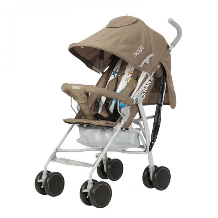 Прогулочная коляска Рант SafariSafariПрогулочная коляска Рант Safari предназначена для детей с 6 месяцев и до 3-х лет.  Легкая и комфортная коляска в стильном дизайне подходит для ежедневных прогулок с малышом на свежем воздухе, для дальних путешествий или шоппинга.  Особенности: алюминиевая облегченная рама увеличенный капюшон с окошком и карманом возможность регулировки наклона спинки, есть положение для сна пяти точечные ремни безопасности с мягкими плечевыми накладками ламинированная подножка регулируется для комфортного положения ребенка съемный передний поручень для безопасности малыша передние поворотные колеса на 360 градусов, с фиксатором для движения по прямой мягкие ручки фиксатор рамы.  Размеры и вес коляски Rant Safari: в сложенном виде (Ш&#215;Д&#215;В): 25 х 104 х 25 см.  в разложенном виде (Ш&#215;Д&#215;В): 45 х 65 х 98 см ширина колёсной базы: 45 см вес коляски: 6 кг.<br>