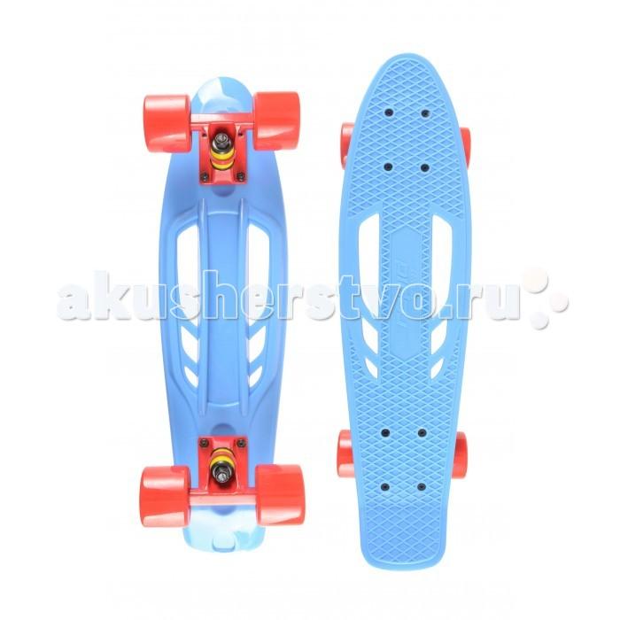 Rapid Sport Скейтборд TLS-405-1Скейтборд TLS-405-1Rapid Sport Скейтборд TLS-405-1 пластиковый для детей. Дека оборудована противоскользящим покрытием.  Длина деки: 55 см, ширина: 15 см. Колёса: 59 мм 78А. Подшипники: ABEC-7. Максимальная нагрузка до 80 кг.<br>