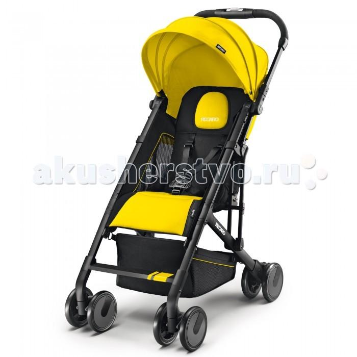 Прогулочная коляска Recaro EasylifeEasylifeПрогулочная коляска Recaro Easylife от немецкой компании RECARO (эта модель не предназначена для использования в качестве шасси для автокресел).   Яркий, функциональный дизайн, - ничего лишнего. Удобное быстрое складывание и компактные размеры - идеальный вариант для перевозки в багажнике автомобиля. Несмотря на то, что вес коляски всего 5,7 кг, она получилась очень прочной и надежной, благодаря применению современных материалов: алюминиевого сплава и пластиков со стекловолоконным армированием. Четыре пары подпружиненных колес, стояночный тормоз PUSH-PUSH, регулируемый наклон спинки, пятиточечные ремни, солнцезащитный тент, вентилируемые ячеистые вставки, корзина, - в общем, все, что должно быть в современной городской коляске.  Особенности: предназначена для детей от 6 месяцев до достижения веса 15 кг; легко складывается и раскладывается одной рукой; регулируемый наклон спинки; 5-ти точечные ремни безопасности; складывающийся козырек от солнца; ручка для управления регулируется по высоте; колёса вращаются на 360 градусов, блокировка передних колес; стояночный тормоз PUSH-PUSH (нажатием ноги) ; корзина для вещей; сверхлегкий прочный каркас; вес коляски 5,7 кг.  Размеры и вес: размер в сложенном состоянии: 49х58х26 см размеры в разложенном виде: 80х47х105 см вес 5,7 кг.<br>