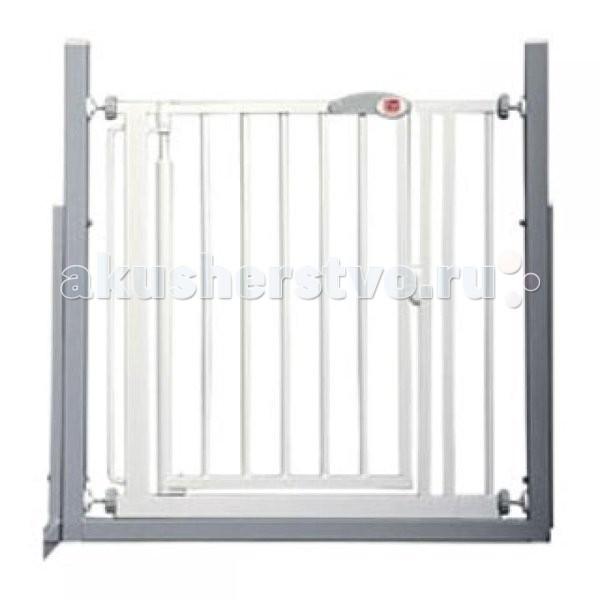 Red Castle AUTO-Close Ворота безопасности для дверей и лестниц 68,5-75,5AUTO-Close Ворота безопасности для дверей и лестниц 68,5-75,5Ворота безопасности Red Castle AUTO-CLOSE для дверей и лестниц. Установив ворота в верхней или нижней части лестницы, вы защитите вашего малыша от вероятных падений. Ворота закрываются и защелкиваются автоматически, учитывая тот факт, что ребенок старшего возраста или взрослый могут забыть закрыть их за собой.  Благодаря передовой патентованной системе креплений, колесики креплений не могут быть развинчены маленьким ребенком. Воротабыстро и легко фиксируются на стене или в дверном проеме. Части Y-формы (опция), позволяют крепить ворота к закругленным частям стойки перил на концах лестничных маршей. Ворота металлические, покрыты белой краской с нанесением лака. Вы можете выбрать направление, в котором открываются ворота. В целях безопасности, ворота не открываются в оба направления одновременно.  Особенности:  Регулируемая длина ворот: 68,5 до 75,5 см Высота от пола: 75,5 см  Удлиняющие вставки: 7, 14 и 36 см доступны в виде опций.  С помощью вставок вы можете увеличить длину до максимального размера - 155 см<br>