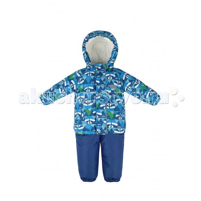 Reike Комплект (куртка+полукомбинезон) ЕнотКомплект (куртка+полукомбинезон) ЕнотReike Комплект (куртка+полукомбинезон) Енот  Комплект Reike Raccoon состоит из куртки с ярким комбинированным принтом «Енот» и однотонного полукомбинезона. Обеспечивает комфорт и качественную защиту ребенка в зимние месяцы. Выполнен из ветрозащитной и водонепроницаемой дышащей ткани с мембраной на хлопковом подкладе с комфортными велюровыми вставками в верхней части полукомбинезона, а также на воротнике и эластичных манжетах куртки.   Куртка дополнена съемным регулирующимся капюшоном с козырьком, двумя карманами с клапанами и множеством безопасных светоотражающих деталей. Резинка внизу куртки, а также ветрозащитные планки на кнопках и липучках вдоль молнии, не допускают проникновения холодного воздуха.   Эластичная талия полукомбинезона и регулируемые подтяжки гарантируют посадку по фигуре, длинная молния впереди облегчает процесс одевания. Полукомбинезон оснащен светоотражателем в виде логотипа Reike, боковым карманом на молнии и съемными штрипками.   Базовый уровень.  Коэффициент воздухопроницаемости комбинезона 2000гр/м2/24 ч. Водоотталкивающее покрытие: 2000 мм.  Утеплитель: куртка - 280 гр., полукомбинезон - 140 гр. Состав: 100% полиэстер, подкладка: 100% хлопок.  При разработке продукции финскими дизайнерами учитывался целый ряд технических требований, отвечающих современным трендам: Reike – детская одежда, а потому должна успешно противостоять суровым погодным условиям, должна иметь свободный крой, позволяющий ребёнку активно двигаться в играх на открытом воздухе, она должна быть яркой и красочной.  В результате была создана коллекция одежды, способная удовлетворить всем запросам современности и вызовам природы северных регионов, совмещая в себе высокотехнологичные материалы и модный дизайн. Благодаря широкому модельному ряду и аксессуарам можно подобрать полный комплект Reike из курток, брюк, комбинезонов и полукомбинезонов, а также обуви, шапок и перчаток в одном стиле и цветово