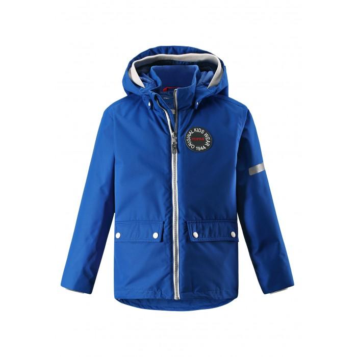 Reima Куртка демисезонная 521528Куртки, пальто, пуховики<br>Reima Куртка демисезонная 521528   В детской демисезонной куртке с рисунком, посвященным юбилею Reima®, дождь не страшен – все основные швы проклеены, водонепроницаемы. Куртка со съемной стеганой подкладкой – незаменимая вещь для осенней поры; а когда похолодает, просто подденьте теплый промежуточный слой и куртка превратится в отличный зимний наряд. Подол в этой ретро-куртке прямого покроя легко регулируется, что позволяет подогнать куртку идеально по фигуре. Большие карманы с клапанами и светоотражающие детали выполнены в ретро-стиле 70-х, вместе с мягкой резинкой на манжетах и по краю капюшона они придают образу изюминку.   Основные швы проклеены и не пропускают влагу Водо и ветронепроницаемый, «дышащий» и грязеотталкивающий материал (Толщина слоя воды 8 000 мм) Гладкая подкладка из полиэстера Безопасный, съемный капюшон Мягкая резинка на кромке капюшона Два кармана с кнопками Cветоотражающие детали   Состав: 100% Полиэстер, полиуретановое покрытие, подкладка - 100% полиэстер, утеплитель - 100% полиэстер 80 гр  Уход: Cтирать с бельем одинакового цвета. Застегнуть молнии и липучки. Стирать моющим средством, не содержащим отбеливающие вещества. Полоскать без специального средства. Во избежание изменения цвета изделие необходимо вынуть из стиральной машинки незамедлительно после окончания программы стирки. Сушить при низкой температуре.