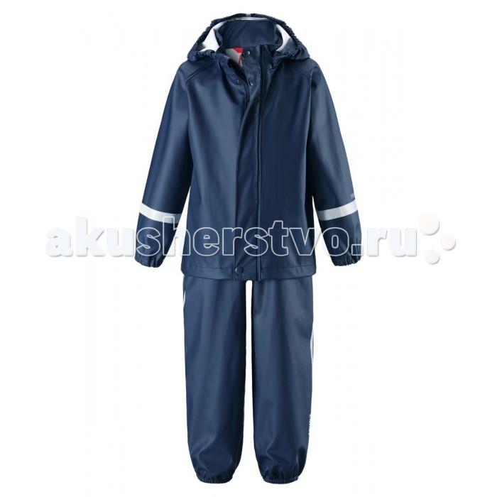Reima Комплект-дождевик 513103Комплект-дождевик 513103Reima Комплект-дождевик 513103 от дождливой погоды для малышей.  Особенности: запаянные швы, не пропускающие влагу эластичный материал без ПВХ безопасный, съемный капюшон ластичные манжеты регулируемый обхват талии эластичные штанины съемные эластичные штрипки молния спереди регулируемые подтяжки светоотражающие детали. Стирать по отдельности, вывернув наизнанку. Застегнуть молнии и липучки. Стирать моющим средством, не содержащим отбеливающие вещества. Полоскать без специального средства. Во избежание изменения цвета изделие необходимо вынуть из стиральной машинки незамедлительно после окончания программы стирки. Сушить при низкой температуре.<br>
