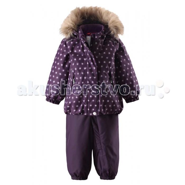 Reima Комплект зимний 513112Комплект зимний 513112Reima Комплект зимний 513112 для малышей. Теплый зимний комплект для малышей сшит из ветро и водонепроницаемого материала со всеми проклеенными и водонепроницаемыми швами. Куртка оснащена съемным капюшоном, который легко отстегивается, если за что-нибудь зацепится. У зимних брюк высокая талия, которая защищает поясницу от холода, а благодаря подтяжкам и силиконовым штрипкам они будут хорошо сидеть.  Особенности: все швы проклеены и водонепроницаемы водо- и ветронепроницаемый, «дышащий» и грязеотталкивающий материал гладкая подкладка из полиэстра безопасный съемный капюшон с отсоединяемой меховой каймой из искусственного меха эластичные манжеты высокая талия с регулируемыми подтяжками регулируемый подол прочные силиконовые штрипки два кармана на молнии светоотражающие детали от 0 -20 Стирать по отдельности, вывернув наизнанку. Застегнуть молнии и липучки. Стирать моющим средством, не содержащим отбеливающие вещества. Полоскать без специального средства. Во избежание изменения цвета изделие необходимо вынуть из стиральной машинки незамедлительно после окончания программы стирки. Можно сушить в сушильном шкафу или центрифуге (макс. 40° C).  Вес утеплителя: 160 г<br>