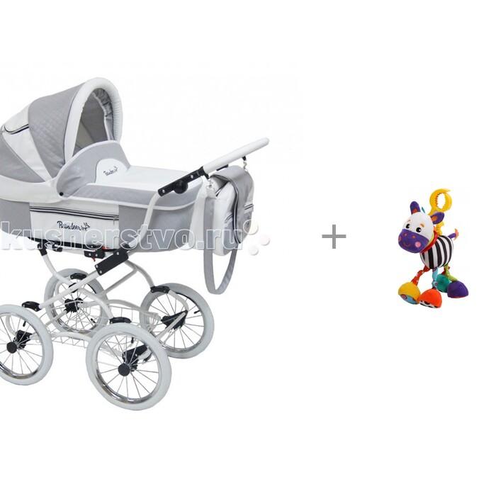 Коляска-люлька Reindeer Prestige Lily и подвесная игрушка с вибрацией Зебра Жирафики(Prestige Lily и подвесная игрушка с вибрацией Зебра Жирафики)