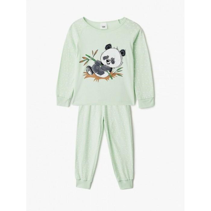 Домашняя одежда Repost Пижама для девочки Панда (лонгслив и штаны)