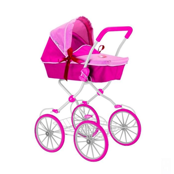Коляска для куклы R-Toys 603603Элегантная классическая коляска для кукол 603 на больших колесах с белыми спицами.   Атласные бантики и белоснежная рама придают коляске изысканность и утонченность.   Эта закрытая коляска выглядит как маленькая копия настоящей современной коляски для детей. У нее есть все как у настоящей коляски: багажник внизу, складной капюшон, ручка из мягкого материала.   Люльку с капюшоном можно переставлять лицом к маме и лицом к дороге.   Маленькая заботливая мама обязательно оценит это. Также ей понравится уникальность этой модели - благодаря специальным креплениям на раме, коляску можно качать. Юная мама быстро укачает куклу перед сном.   Уникальные колеса - они прорезиненные сверху, что дает плавность и мягкость хода. И конечно же, эти колеса не гремят по дороге. Благодаря амортизаторам обеспечивается плавность хода, устойчивость и проходимость.   Высота коляски — 85 см. Высота ручки — 83 см. Коляски для кукол — непременный атрибут игры в дочки-матери. Коляски для кукол от R-Toys являются маленькими многофункциональными копиями настоящих детских колясок.<br>