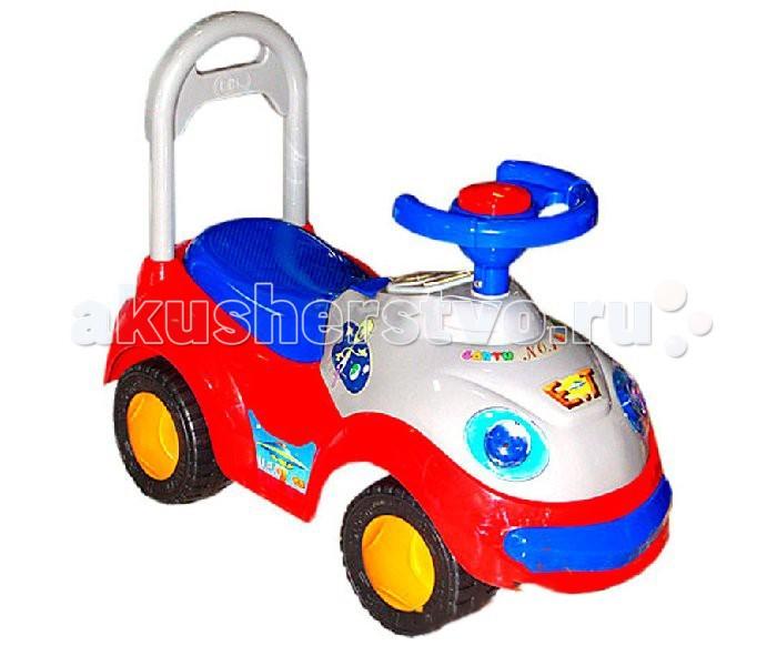 Каталка Rich Toys 21092109Каталка Rich Toys 2109-МС/2109-МY - самая любимая игрушка для мальчиков. Да, пожалуй, и не только для мальчиков. Современные детские машинки отличаются таким разнообразием стилей и форм, что девочки тоже не остаются равнодушными к подобной игрушке. Машинки ялвяются не только игрушками, но и способом познания окружающего мира. Доставьте малышку радость, дайте ему возможность почувствовать себя за рулем первого собственного, пусть пока и игрушечного, автомобиля.   Особенности:  Сигнал в виде круглой кнопки на руле Устойчивые колеса с поворотом на 90 градусов Легкое движение вперед и назад Под сиденьем имеется место для игрушек Максимальная нагрузка: 30 кг<br>