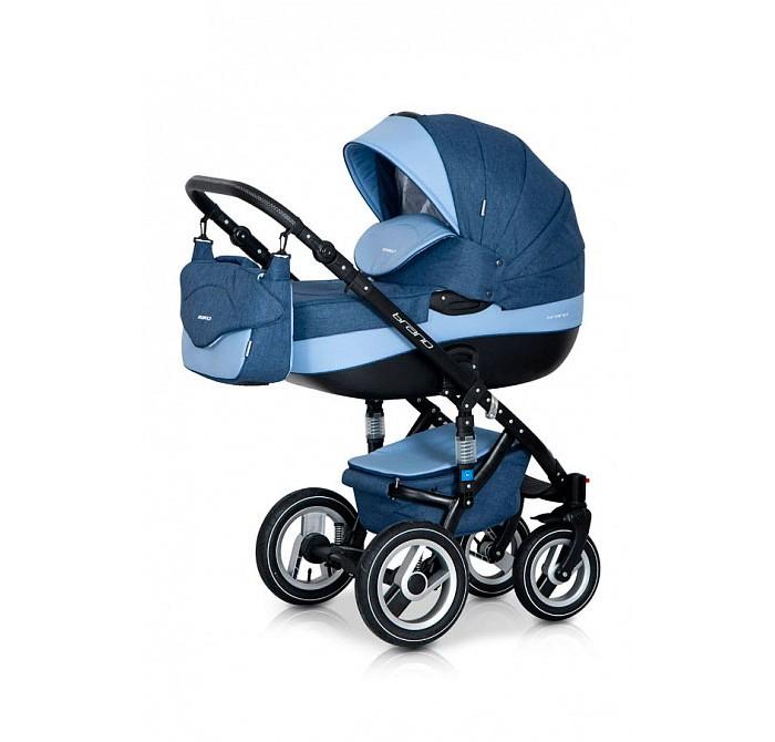 Коляска Riko Bruno 3 в 1Bruno 3 в 1Коляска Riko Bruno 3 в 1, модель представлена в современном, стильном дизайне.  Коляска Brano обеспечит крохе самые лучшие условия для увлекательных прогулок и комфортного полноценного сна во время прогулок на свежем воздухе.  Малыш будет прекрасно себя чувствовать в просторной люльке, а комфортное прогулочное сиденье для подросшего ребенка предоставит наилучшие условия.   Эта модель коляски на алюминиевой раме обладает отличной проходимостью за счет легкого хода и надувных колес. Коляска маневренная благодаря поворотным передним колесам. Современная система амортизации колес позволяет легко преодолевать любые препятствия, и при этом сохраняется мягкость хода, обеспечивая спокойный сон вашего малыша.   Коляска укомплектована просторной и комфортной люлькой и прогулочным блоком, которые легко устанавливаются на раму как по ходу, так и против хода движения.  Люлька: Просторная пластиковая люлька с жестким дном Верхняя часть из водонепроницаемой ткани  Не продуваемые борта Регулируемый по высоте подголовник Удобная ручка, расположенная на капюшоне для переноски, обтянута эко-кожей Бесшумный механизм регулировки капюшона Капюшон с открывающейся на молнии секцией, со встроенной москитной сеткой для вентиляции Высокий отворот на накидке на люльку защитит новорожденного от непогоды Внутренняя вкладка выполнена из 100% хлопка, легко снимается для стирки Матрасник для новорожденного Возможность установки люльки в 2 положениях (лицом к маме, или лицом по направлению движения коляски) Внутренние размеры люльки: длина: 80 х 37 х 22 см. Вес: 5.11 кг  Прогулочный блок: Четыре положения регулировки спинки, вплоть до горизонтального Регулируемая подножка Регулируемый капюшон Пятиточечные ремни безопасности с мягкими плечевыми накладками Съемный бампер Накидка на ножки Возможность установки прогулочного блока в 2 положениях (лицом к маме, или лицом по направлению движения коляски) Размеры сиденья: ширина: 32 см, глубина: 25 см, высота спинки: 41 см