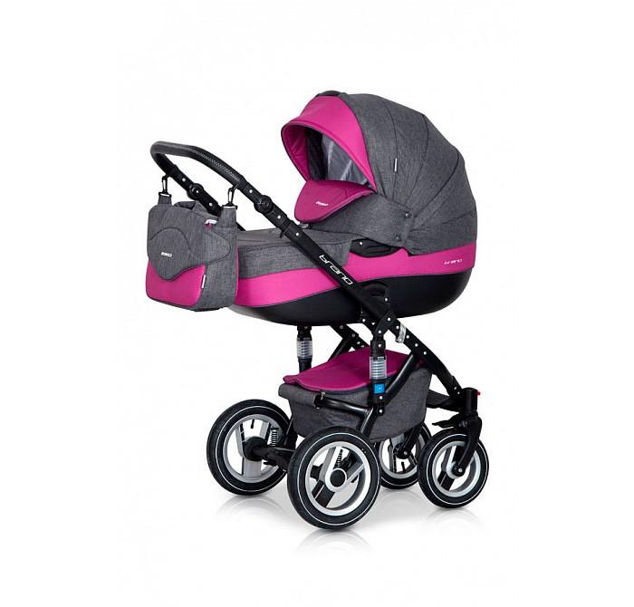 Коляска Riko Brano 3 в 1Brano 3 в 1Коляска Riko Brano 3 в 1, модель представлена в современном, стильном дизайне.  Коляска Brano обеспечит крохе самые лучшие условия для увлекательных прогулок и комфортного полноценного сна во время прогулок на свежем воздухе.  Малыш будет прекрасно себя чувствовать в просторной люльке, а комфортное прогулочное сиденье для подросшего ребенка предоставит наилучшие условия.   Эта модель коляски на алюминиевой раме обладает отличной проходимостью за счет легкого хода и надувных колес. Коляска маневренная благодаря поворотным передним колесам. Современная система амортизации колес позволяет легко преодолевать любые препятствия, и при этом сохраняется мягкость хода, обеспечивая спокойный сон вашего малыша.   Коляска укомплектована просторной и комфортной люлькой и прогулочным блоком, которые легко устанавливаются на раму как по ходу, так и против хода движения.  Люлька: Просторная пластиковая люлька с жестким дном Верхняя часть из водонепроницаемой ткани  Не продуваемые борта Регулируемый по высоте подголовник Удобная ручка, расположенная на капюшоне для переноски, обтянута эко-кожей Бесшумный механизм регулировки капюшона Капюшон с открывающейся на молнии секцией, со встроенной москитной сеткой для вентиляции Высокий отворот на накидке на люльку защитит новорожденного от непогоды Внутренняя вкладка выполнена из 100% хлопка, легко снимается для стирки Матрасник для новорожденного Возможность установки люльки в 2 положениях (лицом к маме, или лицом по направлению движения коляски) Внутренние размеры люльки: длина: 80 х 37 х 22 см. Вес: 5.11 кг  Прогулочный блок: Четыре положения регулировки спинки, вплоть до горизонтального Регулируемая подножка Регулируемый капюшон Пятиточечные ремни безопасности с мягкими плечевыми накладками Съемный бампер Накидка на ножки Возможность установки прогулочного блока в 2 положениях (лицом к маме, или лицом по направлению движения коляски) Размеры сиденья: ширина: 32 см, глубина: 25 см, высота спинки: 41 см