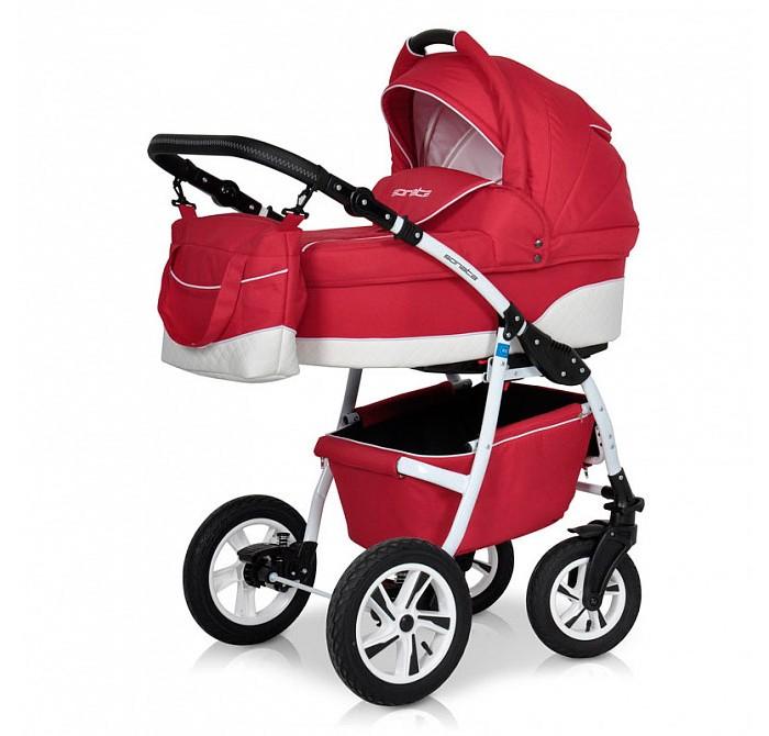 Коляска Riko Sonata 3 в 1Sonata 3 в 1Коляска Riko Sonata 3 в 1 предназначена для детей с рождения и до 3-х лет. Многофункциональная транспортная система, обеспечивающая комфорт и безопасность на прогулках с Вашим ребенком.  Детская универсальная коляска изготовлена с использованием высококачественных легких дышащих текстильных материалов, имеет небольшой вес и отличную маневренность на дороге.  В комплект коляски входит автокресло 0+, спальная люлька для новорожденного и прогулочный блок для подросшего малыша, которые можно устанавливать по ходу движения или против хода движения. Люлька коляски комфортная и удобная, сделана внутри из 100 % хлопка. Дно люльки – жесткое, это очень важно для правильного формирования позвоночника новорожденного малыша.  Люлька: Непромокаемая тканевая люлька с элементами выполненными из перфорированной Эко кожи и жестким дном; Регулируемый по высоте подголовник; Вентилируемое смотровое окошко в капюшоне; Удобная ручка для переноски, расположенная на капюшоне; Регулируемый капюшон; Внутренняя вкладка выполнена из 100% хлопка, легко снимается для стирки; Возможность установки люльки в 2 положениях (лицом к маме, или лицом по направлению движения коляски). Размеры внутренние люльки: длина 76 см. ширина 37 см. высота 22 см. Вес: 4,73 кг.  Прогулочный блок: 3 положения регулировки спинки, в том числе до горизонтального; Регулируемая подножка; Регулируемый капюшон; Съемный бампер; Возможность установки прогулочного блока в 2 положениях (лицом к маме, или лицом по направлению движения коляски). Размеры прогулочного блока: ширина 36 см. длина 84 см. Вес: 4,3 кг.  Автокресло: Подходит детям с рождения до 13 кг Категория 0+ Фиксируется на раму через переходник, переходник в комплекте Отвечает всем стандартам безопасности Ребенок фиксируется в кресле трехточечным ремнем Кресло в автомобиле фиксируется против хода движения, штатным ремнем.  Шасси: Удобный и простой механизм складывания коляски Легкий и простой механизм снятия и установки съемных мод