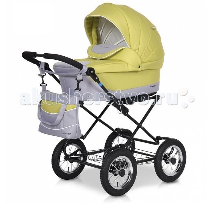 Коляска Riko Angelo Classic 2 в 1Angelo Classic 2 в 1Коляска Angelo Classic RIKO2 в 1 - универсальная детская коляска от Польского производителя Riko предназначена для детей с рождения и до 3-х лет. Стильные расцветки материала с добавлением орнаментных тканей.   В комплект коляски входит спальная люлька для новорожденного и прогулочный блок для подросшего малыша, которые можно устанавливать по ходу движения или против хода движения. Люлька коляски комфортная и удобная, сделана внутри из 100 % хлопка. Дно люльки – жесткое, это очень важно для правильного формирования позвоночника новорожденного малыша.  Прогулочное сидение легко устанавливается на раму, имеет пятиточечные ремни безопасности, съемный бампер, регулируемое положение спинки. Для удобства родителей предусмотрены регулировка высоты ручки, корзина для покупок и сумка для мамы.  Колеса надувные, камерные, с современной системой амортизации. Классическая рама в сочетании с широким профилем колес, обеспечивает хорошую проходимость и позволяют преодолевать любые препятствия по бездорожью на прогулке.  Люлька: Непромокаемая тканевая люлька с жестким дном; Регулируемый по высоте подголовник; Внутренняя вкладка выполнена из 100% хлопка, легко снимается для стирки; Матрац для новорожденного; Возможность установки люльки в 2 положениях (лицом к маме, или лицом по направлению движения коляски).  Прогулочный блок: 3 положения регулировки спинки, в том числе до горизонтального; Регулируемая подножка; Регулируемый капюшон;  Шасси: Удобный и простой механизм складывания коляски; Легкий и простой механизм снятия и установки съемных модулей (люльки или прогулочного блока); Регулируемая по высоте ручка;  Диапазон регулировки ручки по высоте: 77-116 см от пола. Размер люльки (ШхДхГ): 37 х 77 х 23 см Размер прогулочного блока (ШхГ): 34 х 24 см Вес рамы: 8,2 кг Вес рамы + люлька: 12,9 кг Вес рамы + прогулочный блок: 12,5 кг Диаметр задних колес: 30 см Ширина колесной базы: 60 см Размер коляски в разложенном виде (ШхДхВ): 60 х