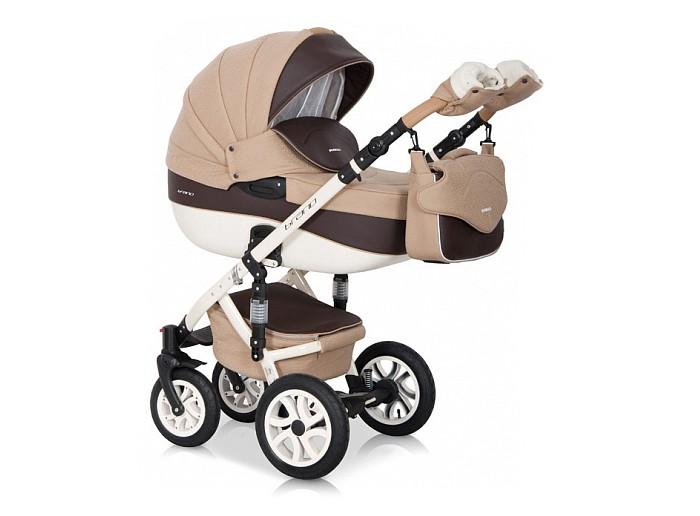 Коляска Riko Brano Ecco 3 в 1Brano Ecco 3 в 1Коляска Riko Brano Ecco 3 в 1 станет вашим идеальным спутником во время прогулок с новорожденным в любую погоду. Коляска предназначена для детей с рождения до 3-х лет.  Получите истинное удовольствие от высокой проходимости детской коляски Riko Brano Ecco (Рико Брано Эко) 3 в 1. Ее массивные колеса на подшипниках уверенно едут в любых условиях, а 4 амортизатора сглаживают все неровности, гарантируя необычайный комфорт для маленького пассажира.  Особенности: транспортная система для малышей 0-3 года  внешняя обивка из эксклюзивной водоотталкивающей ткани со вставками из воздухопроницаемой эко-кожи  крепление съемных модулей на шасси в удобном для вас направлении.  алюминиевая рама с 4-мя регулируемыми по жесткости амортизаторами настройка высоты ручки, покрытой эко-кожей — 0,77-1,21 метра  надежный центральный тормоз.  Люлька пластиковая люлька с высокими бортами  короб длиной 80 см  несколько положений подголовника  ортопедическое дно с мягкой обивкой из 100 %-й х/б ткани  пластиковая ручка посередине капюшона для безопасной переноски.   Прогулочный блок плотная ветронепродуваемая накидка с высоким отворотом  объемный регулируемый капюшон с большим вентиляционным отсеком 4-х позиционная спинка фиксируется в положении «для сна»  несколько положений удобной опоры для ног  поручень отстегивается с одной стороны или полностью снимается.  Автокресло   для деток с массой тела не более 13 кг  можно использовать, как переноску, стульчик для кормления, качалку ремешки безопасности.    Спальный блок: длина — 80.0 см, высота бортов — 22.0 см, ширина — 37.0 см  Прогулка: высота спинки кресла — 41.0 см, глубина сидения — 25.0 см, ширина сидения — 32.0 см, длина опоры для ног — 18 см<br>