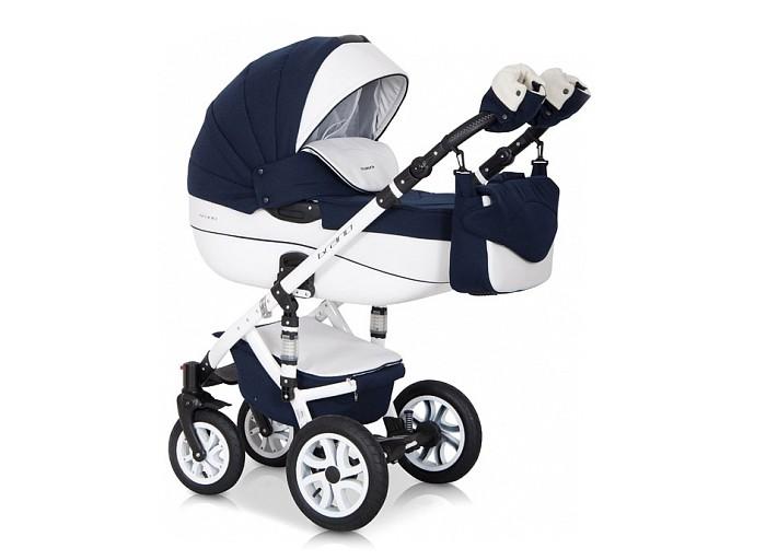 Коляска Riko Bruno Ecco 3 в 1Bruno Ecco 3 в 1Коляска Riko Bruno Ecco 3 в 1 станет вашим идеальным спутником во время прогулок с новорожденным в любую погоду. Коляска предназначена для детей с рождения до 3-х лет.  Получите истинное удовольствие от высокой проходимости детской коляски Riko Bruno Ecco (Рико Брано Эко) 3 в 1. Ее массивные колеса на подшипниках уверенно едут в любых условиях, а 4 амортизатора сглаживают все неровности, гарантируя необычайный комфорт для маленького пассажира.  Особенности: транспортная система для малышей 0-3 года  внешняя обивка из эксклюзивной водоотталкивающей ткани со вставками из воздухопроницаемой эко-кожи  крепление съемных модулей на шасси в удобном для вас направлении.  алюминиевая рама с 4-мя регулируемыми по жесткости амортизаторами настройка высоты ручки, покрытой эко-кожей — 0,77-1,21 метра  надежный центральный тормоз.  Люлька пластиковая люлька с высокими бортами  короб длиной 80 см  несколько положений подголовника  ортопедическое дно с мягкой обивкой из 100 %-й х/б ткани  пластиковая ручка посередине капюшона для безопасной переноски.   Прогулочный блок плотная ветронепродуваемая накидка с высоким отворотом  объемный регулируемый капюшон с большим вентиляционным отсеком 4-х позиционная спинка фиксируется в положении «для сна»  несколько положений удобной опоры для ног  поручень отстегивается с одной стороны или полностью снимается.  Автокресло   для деток с массой тела не более 13 кг  можно использовать, как переноску, стульчик для кормления, качалку ремешки безопасности.    Спальный блок: длина — 80.0 см, высота бортов — 22.0 см, ширина — 37.0 см  Прогулка: высота спинки кресла — 41.0 см, глубина сидения — 25.0 см, ширина сидения — 32.0 см, длина опоры для ног — 18 см<br>