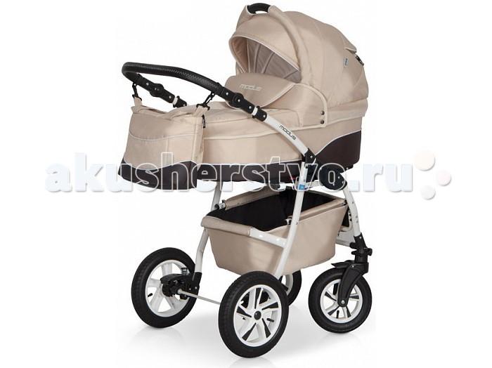 Коляска Riko Modus 2 в 1Modus 2 в 1Коляска Riko Modus 2 в 1 - универсальная детская коляска MODUS 2 в 1 от Польского производителя Riko предназначена для детей с рождения и до 3-х лет.   В комплект коляски входит спальная люлька для новорожденного и прогулочный блок для подросшего малыша, которые можно устанавливать по ходу движения или против хода движения. Люлька коляски  комфортная и удобная, сделана внутри из 100 % хлопка. Дно люльки – жесткое, это очень важно для правильного формирования позвоночника новорожденного малыша.   Прогулочное сидение легко устанавливается на раму, имеет пятиточечные ремни безопасности, съемный бампер, регулируемое положение спинки. Для удобства родителей предусмотрены регулировка высоты ручки, корзина для покупок и сумка для мамы.   Колеса надувные, камерные, с современной системой амортизации. Передние поворотные колеса с фиксатором делают эту модель коляски маневренной и легкоуправляемой. Задние колеса, обеспечивают хорошую проходимость и позволяют преодолевать любые препятствия по бездорожью на прогуле.   Особенности:  Непромокаемая тканевая люлька с жестким дном  Регулируемый по высоте подголовник  Вентилируемое смотровое окошко в капюшоне  Удобная ручка для переноски, расположенная  на капюшоне  Регулируемый капюшон  Внутренняя вкладка выполнена из 100% хлопка, легко снимается для стирки  Матрац  для новорожденного  Возможность установки люльки в 2 положениях (лицом к маме, или лицом по направлению движения коляски).   Размеры внутренние люльки:  длина 76 см  ширина 37 см  высота 20 см  вес: 4.73 кг  Прогулочный блок: 3 положения регулировки спинки, в том числе до горизонтального;  Возможность установки прогулочного блока в 2 положениях (лицом к маме, или лицом по направлению движения коляски).   Размеры прогулочного блока:  ширина 36 см  длина  84 см  вес: 4.3 кг  Рама и колеса: Удобный и простой механизм складывания коляски  Легкий и простой механизм снятия и установки съемных модулей (люльки или прогулочного блока)  Регулируе