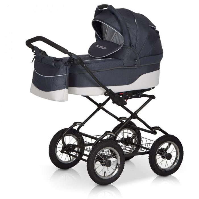Коляска Riko Modus Classic 2 в 1Modus Classic 2 в 1Коляска Riko Modus Classic 2 в 1 - универсальная детская коляска MODUS 2 в 1 от Польского производителя Riko предназначена для детей с рождения и до 3-х лет.   В комплект коляски входит спальная люлька для новорожденного и прогулочный блок для подросшего малыша, которые можно устанавливать по ходу движения или против хода движения. Люлька коляски  комфортная и удобная, сделана внутри из 100 % хлопка. Дно люльки – жесткое, это очень важно для правильного формирования позвоночника новорожденного малыша.   Прогулочное сидение легко устанавливается на раму, имеет пятиточечные ремни безопасности, съемный бампер, регулируемое положение спинки. Для удобства родителей предусмотрены регулировка высоты ручки, корзина для покупок и сумка для мамы.   Колеса надувные, камерные, с современной системой амортизации. Передние поворотные колеса с фиксатором делают эту модель коляски маневренной и легкоуправляемой. Задние колеса, обеспечивают хорошую проходимость и позволяют преодолевать любые препятствия по бездорожью на прогуле.   Особенности:  Непромокаемая тканевая люлька с жестким дном  Регулируемый по высоте подголовник  Вентилируемое смотровое окошко в капюшоне  Удобная ручка для переноски, расположенная  на капюшоне  Регулируемый капюшон  Внутренняя вкладка выполнена из 100% хлопка, легко снимается для стирки  Матрац  для новорожденного  Возможность установки люльки в 2 положениях (лицом к маме, или лицом по направлению движения коляски).   Размеры внутренние люльки:  длина 76 см  ширина 37 см  высота 20 см  вес: 4.73 кг  Размеры прогулочного блока:  ширина 36 см  длина  84 см  вес: 4.3 кг  Рама и колеса: Удобный и простой механизм складывания коляски  Легкий и простой механизм снятия и установки съемных модулей (люльки или прогулочного блока)  Регулируемая по высоте ручка  Амортизаторы с регулировкой жесткости  Колеса надувные на подшипниках  Центральный тормоз  Легкосъёмные колёса для удобства чистки и хранения.   Вес рамы: 