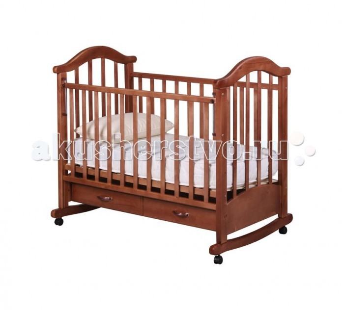 Детские кроватки Рио Виктория-2 качалка (с ящиком) детские кроватки фея 603 с ящиком