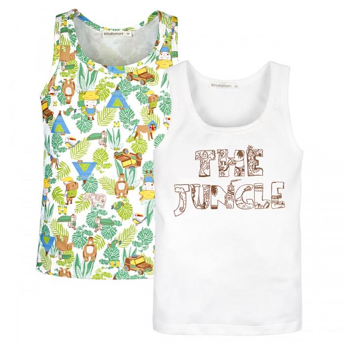 Купить Белье и колготки, Rita Romani Майка для мальчика The jungle 2 шт.