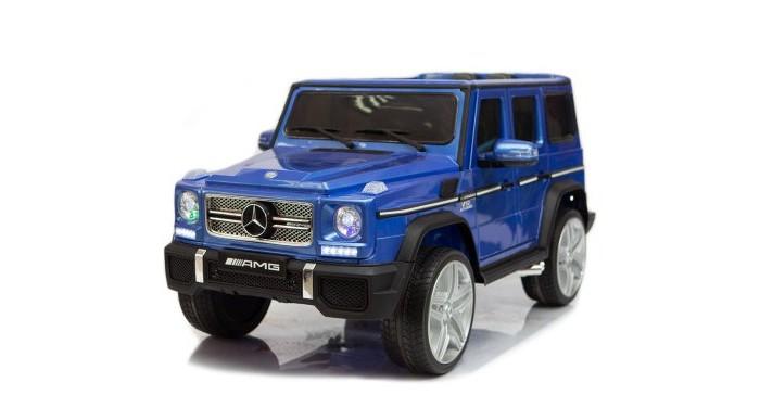 Электромобиль RiverToys Mercedes-Benz G65Электромобили<br>Электромобиль RiverToys Mercedes-Benz  G65 можно смело назвать одним из лучших подарков своему любимому малышу. Выполненная по официальной лицензии, эта точная копия популярного полноразмерного внедорожника G-класса, обладает уникальными характеристиками и неотразимым дизайном.  Особенности: Полноприводный Световые и звуковые эффекты.  Подсветка панели приборов. Диодные огни фар. Плавный ход. Амортизаторы. Пульт управления: индивидуальный (настраивается Bluetooh) Колеса: каучуковые низкопрофильные Скорость: 2 скорости вперед, одна назад. Передвижение по принципу чемодана: есть Двери: двери открываются. Открывается багажное отделение. Сидение: кожаное, ремень безопасности. Коробка автомат. Кнопка переключения 2WD/4WD: да USB-вход, вход для MP3, SD-вход, индикатор заряда батареи. Размер собранной модели: 131x70,5x65см, вес: 27 кг, макс. нагрузка:  30кг Аккумулятор:  12V/10Ah Редуктор: (12v)x4 Внимание: электромобиль RiverToys поставляется в разобранном виде - необходима сборка!