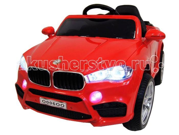 Электромобиль RiverToys BMW O006OO VIPBMW O006OO VIPЭлектромобиль RiverToys BMW O006OO VIP - компактная машинка с отличный функционалом. Оснащена двумя способами управления - непосредственно из салона, а также с помощью индивидуального пульта дистанционного управления. Таким образом, на электромобиле может кататься не только опытный водитель, но и новичок, который только познает азы вождения детского автотранспорта. Электромобиль оснащен всем самым необходимым для увлекательного катания: звуковые эффекты, свет фар, магнитола и реалистичный салон.  Особенности: Стильный седан для детей от 2 до 7 лет. Выполнен на основе дизайна автомобиля BMW. Обеспечивает комфортное катание по городу и парковым дорожкам. Компактные размеры позволяют с легкостью заносить машинку в лифт. Каучуковые колеса обеспечивают отличное сцепление с дорожным покрытием. Отличная амортизация для комфортного катания по сложным участкам дороги. Свет передних, задних и противотуманных фар, обеспечивает отличную заметность машинки. Реалистичная имитация боковых зеркал. Качественный металлический каркас и прочный корпус из закаленного полипропилена. Для быстрой посадки в салон, созданы открывающиеся двери с надежными фиксаторами. Эргономичное, пластмассовое сидение с цельной спинкой. Сидение оснащено поясным ремнем безопасности. Легкое руление за счет нескользящего покрытия руля. Электромобиль включается с помощью кнопки. Оснащен двумя скоростями для движения вперед и одной задней скоростью. Может развивать скорость до 6 км/ч. Скорость движения назад до 3 км/ч. Газ и тормоз совмещены в одной педали. Индивидуальный пульт дистанционного управления позволяет управлять машинкой с расстояния свыше 50 метров. Пульт управления подключается через Bluetooth. Красивая подсветка приборной панели. Индикатор заряда аккумулятора позволяет узнать когда необходимо поставить аккумулятор на подзарядку. Современная магнитола с разъемами USB, AUX и слотом для SD card, к которым можно подключать цифровые носители и слушать 