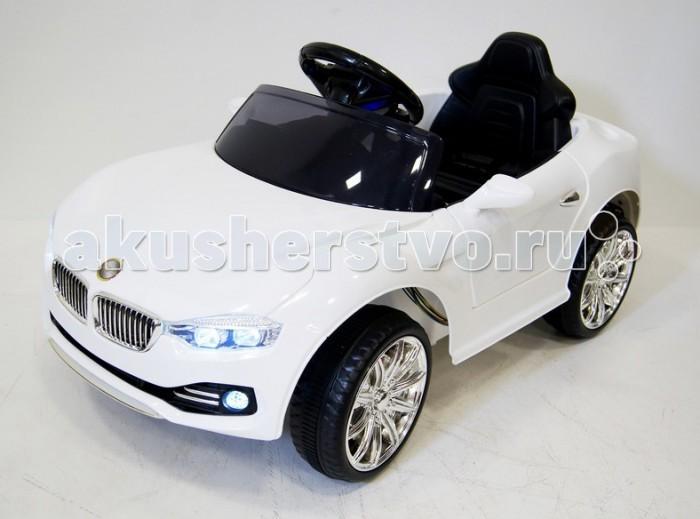Электромобиль RiverToys BMW O111OOBMW O111OOЭлектромобиль RiverToys BMW O111OO с дистанционным управлением.  Особенности: открывающиеся двери позволяют с легкостью садиться в машинку даже самому маленькому колеса из EVA-пластика имеют прорезиненную вставку посередине, что обеспечивает бесшумность и мягкость сзади имеется открывающийся вместительный багажник для хранения мелких вещичек имеются выдвижные колесики сзади и ручка спереди для перемещения вне езды по принципу Чемодан индивидуальный пульт позволит управлять только своей машинкой среди других авто во время прогулки усовершенствованная аудиосистема-имеется вход для USB и MP3, руль также музыкальный высокое сиденье для поддержки спинки ребенка, имеется ремень безопасности заводится с ключа (в комплекте 2 шт) маневренный и компактный - поместится в любое авто и проедет даже в самых маленьких дверных проемах аккумулятор: 6V/4,5Aх2 редуктор: 2х20W<br>