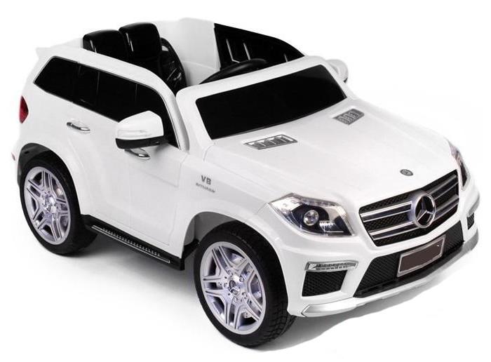 Электромобиль RiverToys Mercedes-Benz GL63(LS628)Mercedes-Benz GL63(LS628)Электромобиль RiverToys Mercedes-Benz GL63(LS628) сочетает в себе все аспекты по настоящему надежного и удивительного детского транспорта. Мягкие резиновые шины, металлический каркас, открывающиеся двери и многое другое.  Детский электромобиль RiverToys Mercedes Benz GL63 AMG создан для радостных эмоций!  Особенности: Уникальный электромобиль с потрясающим дизайном. Дизайн основан на главных аспектах дизайна автомобиля марки Mercedes Benz. Имеет достаточно большое расстояние между закрытым низом корпуса и дорожным покрытием, что позволяет кататься по не ровному дорожному покрытию. Преодолевает подъемы с углом наклона до 10%. Оснащен двумя мощными моторами по 30W и аккумулятором 12V7Ah, которые надежно скрыты от детей. Электромобиль выполнен на металлическом каркасе и оснащен ударопрочным корпусом из полипропилена. Покрытие не выгорает на солнце и устойчиво к образованию царапин. Свет диодных передних и задних фар, обеспечивает безопасное катание в темное время суток. Машинка оснащен боковыми зеркалами, которые позволяют улучшить обзор дороги. Высокие открывающиеся двери дают возможность значительно быстрее и комфортнее совершать посадку в машинку. Двери фиксируются специальными замками. Просторный салон с удобным, широким сиденьем из пластика. Сиденье оснащено надежным поясным ремнем безопасности. Удобный в обхвате руль оснащен кнопкой для включения звуковых эффектов. Реалистичная приборная панель с кнопками и светодиодной подсветкой. Электромобиль включается с помощью ключа зажигания. USB разъем позволяет подключать планшет, смартфон или MP3 плеер и слушать через них любимую музыку. Разъем для Micro SD позволяет подключать карты памяти с закаченными на них мелодиями. Настоящее FM радио сделает катание еще более интересным и позволит слушать любимую радиостанцию. Электромобиль оснащен индивидуальным пультом управления, который подключается через интерфейс Bluetooth и работает на расстоянии свы