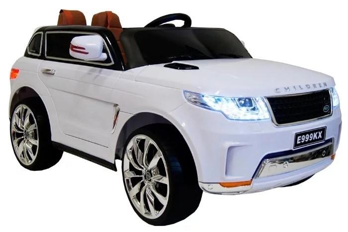 Электромобиль RiverToys Range Rover Sport E999KXRange Rover Sport E999KXЭлектромобиль RiverToys Range Rover Sport E999KX оснащен звуковыми и световыми эффектами, встроенной магнитолой и многими другими увлекательными функциями.  Особенности: Подходит для детей от 1 до 8 лет Аккумулятор: 12V/7А Редуктор: 2х30W Световые и звуковые эффекты. Подсветка панели приборов, диодные огни фар. Амортизаторы. Задняя подсветка. Пульт управления: индивидуальный (настраивается по Bluetooh) Колеса: EVA-резиновые низкопрофильные (кнопочные) Открываются двери. Возможность перемещения по принципу Чемодана (выдвигается ручка и колесики) Открывается капот, стойка-фиксатор капота для легкого демонтажа аккумулятора.  Скорость: 3 скорости вперед, одна назад.   Сидение: кожаное. 5-ти точечный ремень безопасности. Заводится с кнопки. Вход MicroSD, USB-вход. Индикатор заряда батареи.<br>