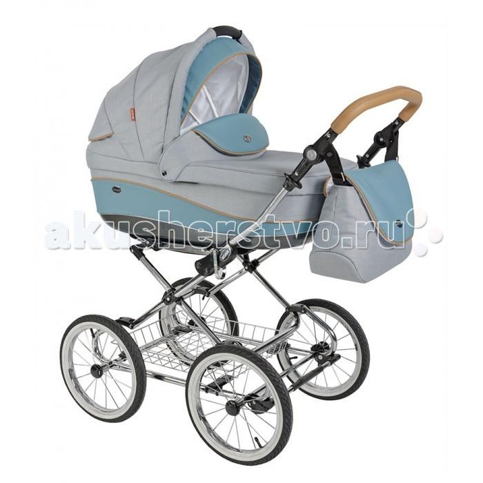 Коляска Roan Emma 2 в 1Emma 2 в 1Roan Emma 2 в 1 - классическая универсальная коляска для детей с рождения до 3 лет. Классический дизайн и современное исполнение является залогом комфорта и безопасности малышей и родителей.   Возможность монтажа прогулочного кресла и люльки в двух направлениях движения. Система естественной вентиляции люльки. Легкое алюминиевое шасси с простым складыванием и защитой от случайного складывания. Функция качания и убаюкивания люльки.   В комплекте к коляске Roan Emma прилагаются: отдельный чехол на ножки, практичная сумка оригинального кроя, матрасик для люльки, дождевик, москитная сетка. Все ткани, используемые во внутренней и наружной обшивке сертифицированы. Список отменных характеристик еще долго можно продолжать, но лучше убедитесь в качестве сами. Детская универсальная коляска Roan Emma 2 в 1 - коляска, которая создает статус!   Люлька: Увеличенный капюшон с антимоскитным окошком Литой короб из прочного морозоустойчивого пластика Двусторонний ортопедический матрасик в комплекте: одна сторона представлена кокосовой койрой для летнего периода, а вторая - войлоком, для использования в холодное время года. На матрасик надет чехол из 100% хлопка, который можно постирать Подъемная спинка для начинающих сидеть самостоятельно детей с шестью уровнями регулировки. Дно люльки оснащено вентиляцией, предназначенной еще и для отвода влаги Трансформация в колыбель или люльку-качалку посредством профилированных ножек и полозьев на дне люльки Внутренние борта съемные, утепленные, хлопчатобумажные Большой капюшон со встроенной ручкой с центровкой для переноски. Капюшон имеет функцию полного закрытия люльки, а также антимоскитную сетку на отвороте 2 положения регулировки капюшона и х/б обшивка Накидка на люльку фиксируется кнопками с обеих сторон, позволяя откидывать накидку в одну из сторон. Накидка имеет дополнительный защитный отворотный клапан Люлька легко монтируется и фиксируется на раме двумя поворотными защелками по бокам  Прогулочный блок: 