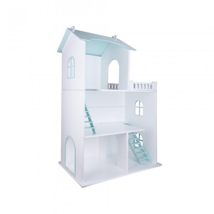 Rodent kids Домик для кукол Little HomeКукольные домики и мебель<br>Rodent kids Домик для кукол Little Home  Деревянный домик тм Rodent kids из тщательно отшлифованных и обработанных вручную деталей, сделанных из высокосортной 10-мм березовой фанеры. Этот кукольный домик позволяет импровизировать и развивать творческое воображение. Для покраски используется безопасная акриловая краска на водной основе. Крепежная система домика устроен таким образом, что сборка выполняется без использования клея и других опасных для ребенка материалов. Домик послужит источником положительных эмоций для вашего ребенка и украсит любой интерьер. Домик для кукол и игрушек предоставит много радости вам и вашему ребенку, а благодаря неповторимой стилистике и дизайнерскому исполнению послужит нескольким поколениям. Все наши игрушки безопасны и соответствуют мировым стандартам качества.        О домике: Материал дерево Цвет бирюзовый Страна изготовитель Россия Размеры Высота 90 см Ширина 60 см Краска акриловая на водной основе Поставляется в разобранном виде