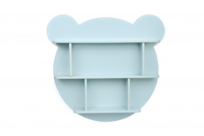 Картинка для Аксессуары для детской комнаты Rodent kids Полка настенная круглая Мишка