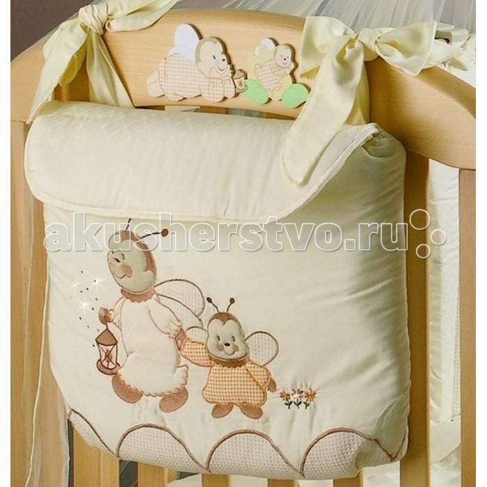 Roman Baby Сумка на кроватку LuccioleСумка на кроватку LuccioleУдобная сумка на кроватку Roman Baby Lucciole с оригинальной вышивкой - куда можно положить игрушки и детские принадлежности  100% хлопок<br>