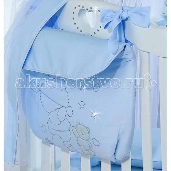 Roman Baby Сумка на кроватку Polvere Di StelleСумка на кроватку Polvere Di StelleУдобная сумка на кроватку Roman Baby Polvere Di Stelle с оригинальной вышивкой - куда можно положить игрушки и детские принадлежности  100% хлопок<br>