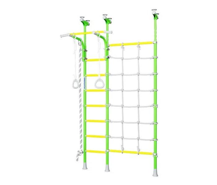 Romana Детский спортивный комплекс Karusel R3Детский спортивный комплекс Karusel R3Romana Детский спортивный комплекс Karusel R3 устанавливается враспор, поэтому для его установки не нужно ничего сверлить!   Для поколения 2018 была обновлена система крепежа к потолку — повысились удобство и надежность монтажа лестницы и вертикальной стойки. На этой шведской стенке теперь предусмотрен перемещаемый вертикально турник, который можно крепить на любой высоте с помощью специальных хомутов.  Особенности: Romana Karusel R3 прекрасно подходит для маленьких непосед, ведь в комплекте есть широкий канатный лаз Его можно отклонить в разные стороны, если это необходимо, согласно планировке комнаты Ширина лаза была оптимизирована и составляет 1.5 м Улучшение получил шнур, он стал еще крепче В нижней части лаза мы предусмотрели только канат, а не трубу — детям интересно лазить именно по нему. Были добавлены катушки-клипсы для удобной фиксации шнуров. Дополнительно, комплекс стал еще лучше визуально благодаря новой цветовой гамме, более насыщенной, яркой и приятной взгляду. Такая стенка — украшение детской комнаты!  Высота: от 2,35 до 2,73 м Ширина комплекса: 0,55 м Занимаемая площадь: 1,06 х 1,50 м Диаметр трубы: 38 мм Толщина металла: 1,5 мм Диаметр ступени: 26 мм Ширина ступени: 0,49 м Шаг ступени: 0,26 м Тип ступени: массажные, ступени Antislip на верхней раме - 3 шт. Допустимая нагрузка на навесное оборудование: 50 кг Допустимая нагрузка: 100 кг. Комплектация:  трапеция канат кольца гимнастические сетка для лазания.<br>