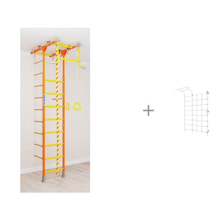 Картинка для Шведские стенки Romana Шведская стенка Kometa 1 и Комплект с канатным лазом пристенный
